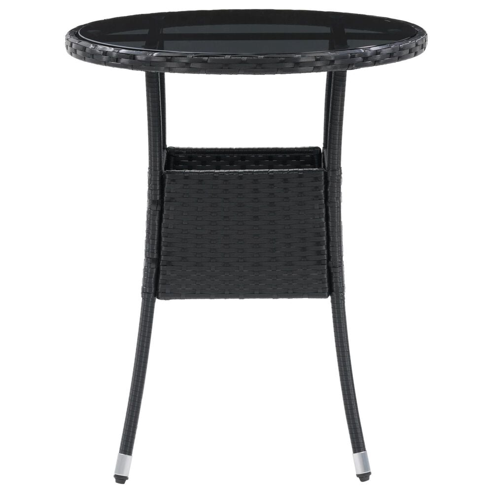 CorLiving Parksville Patio Bistro Table in Black, , large