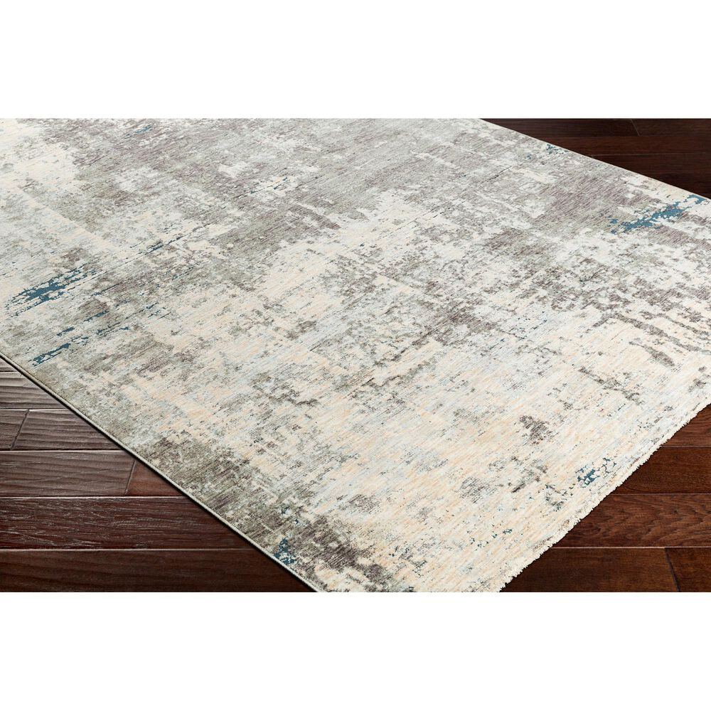 """Surya Presidential PDT-2301 3'3"""" x 5' Blue, Gray and Orange Area Rug, , large"""
