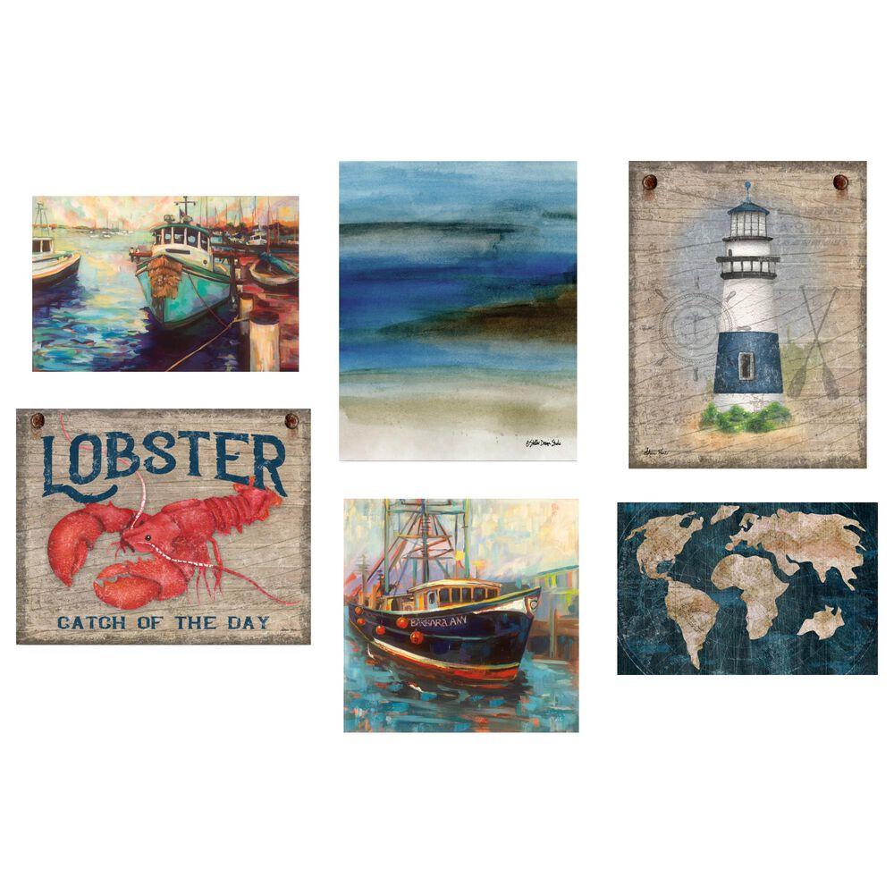 Courtside Market North East Nautical 6-Piece Canvas Set, , large