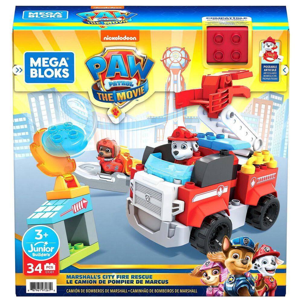 Mega Bloks Mega Bloks Paw Patrol Marshall's Fire Rescue Set, , large