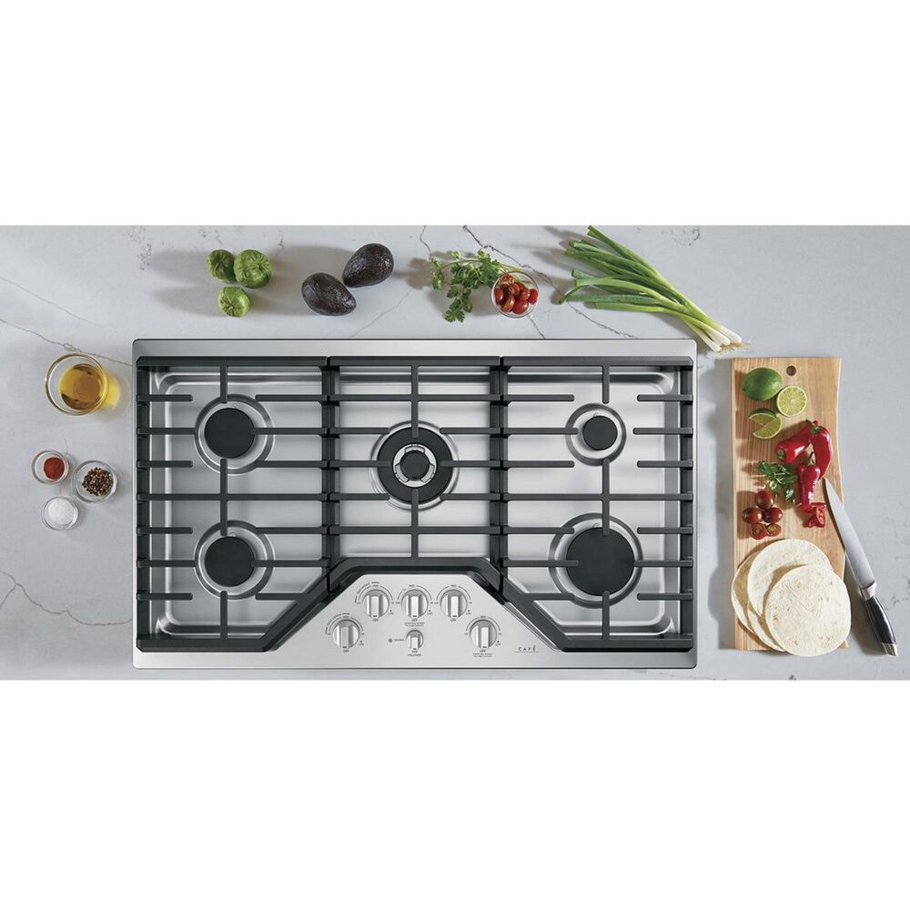 """Cafe 36"""" Built-In Gas Cooktop in Stainless Steel, , large"""