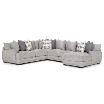 Moore Furniture Barton 5-Piece Sectional in Light Gray, , large