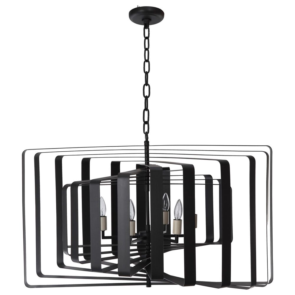 Moe's Home Collection Chelsea Pendant Lamp in Black, , large