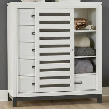 Riva Ridge Hyde Park Sliding Door Chest in White, , large