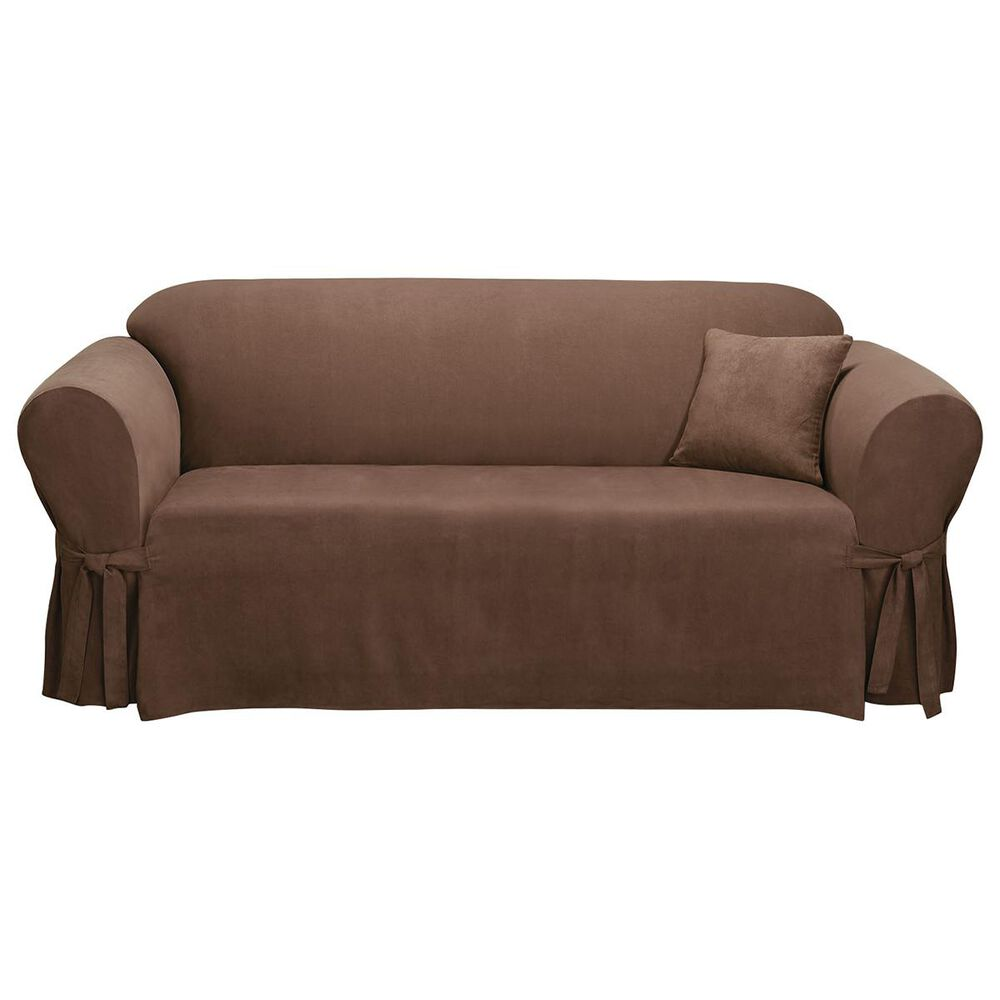 Surefit Sofa Slipcover in Chocolate, , large