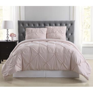 Pem America Truly Soft Pleated 3-Piece Full/Queen Duvet Set in Blush, , large