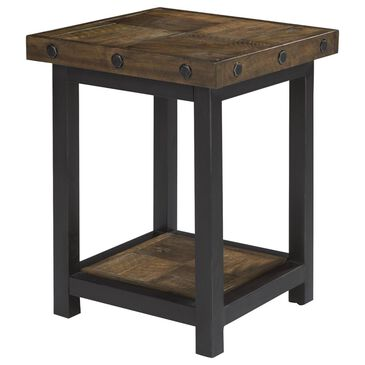 at HOME Carpenter Chairside Table in Oiled Oak, , large
