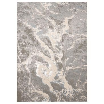 Feizy Rugs Azure 3539F 8' x 11' Gray and Blue Area Rug, , large