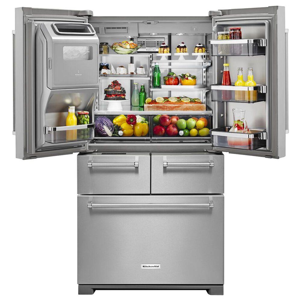 KitchenAid 25.8 Cu. Ft. 5-Door Refrigerator with Platinum Interior, , large