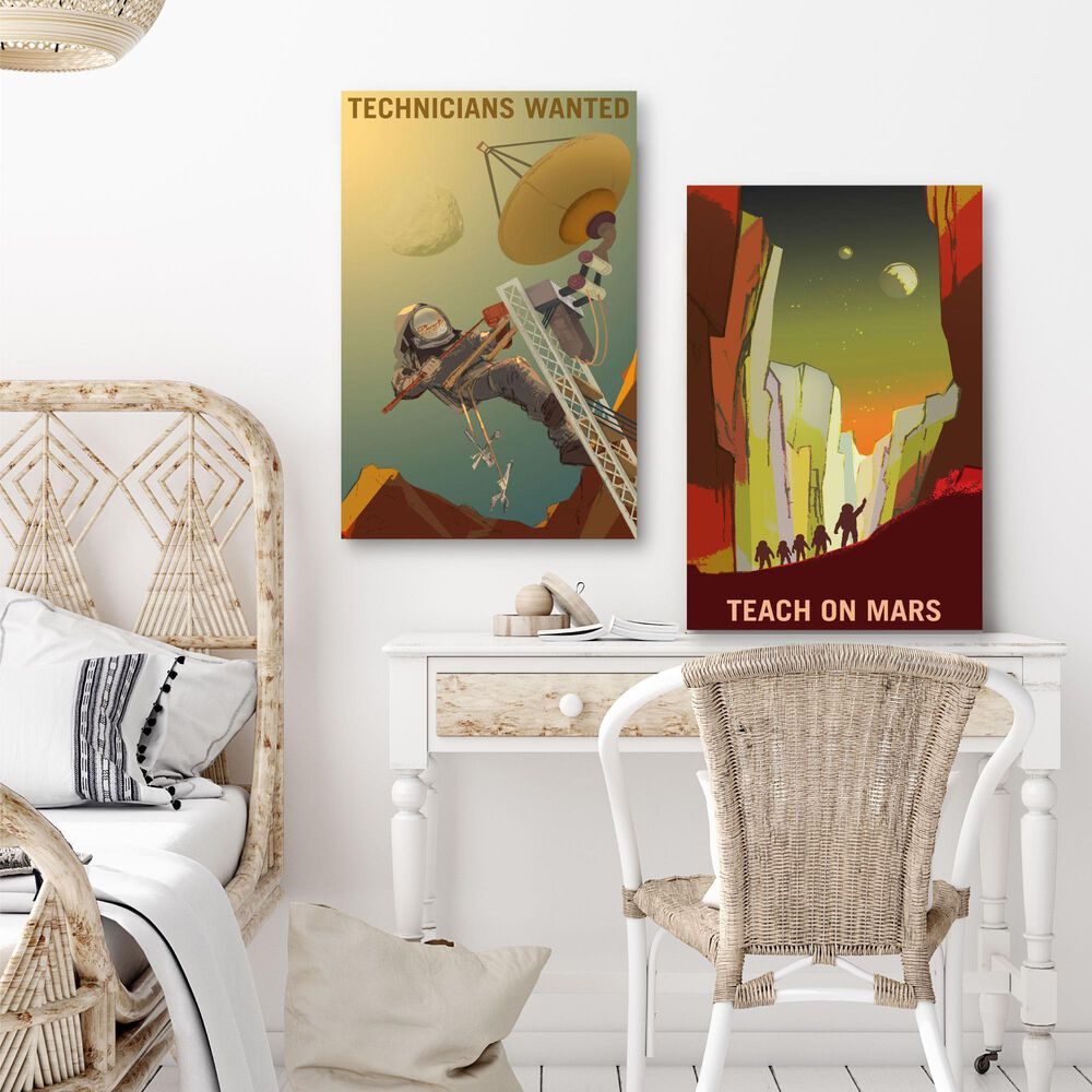 Courtside Market Teach on Mars I & II 2-Piece Canvas Set, , large