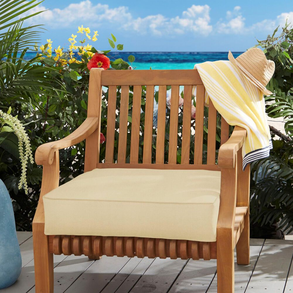 "Sorra Home Sunbrella 22.5"" Deep Seating Cushion in Canvas Antique Beige, , large"