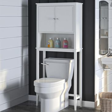 DHP Cottage Hill Over the Toilet Storage in White, , large