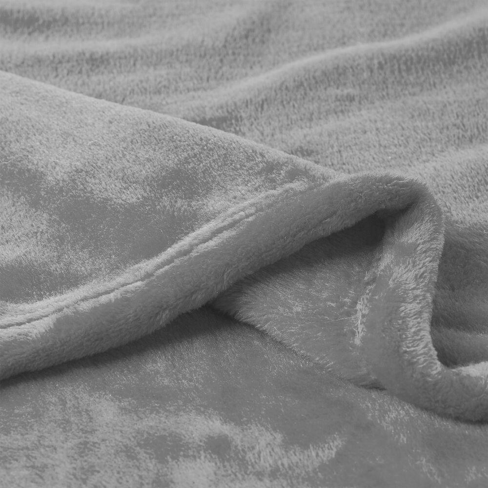 Timberlake Lavish Home Microfiber Velvet Throw in Stone Grey, , large