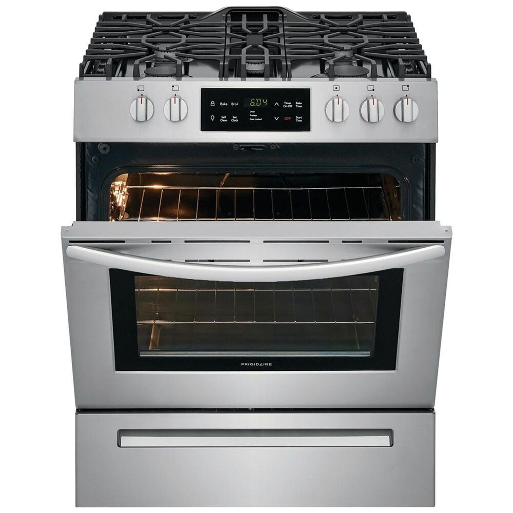 Frigidaire Freestanding Self Cleaning Gas Range in Stainless Steel, , large