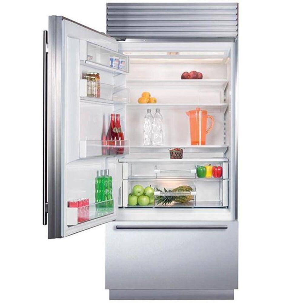 """Sub Zero 36"""" Wide Built-in Bottom Freezer Refrigerator (Tubular Handle), , large"""