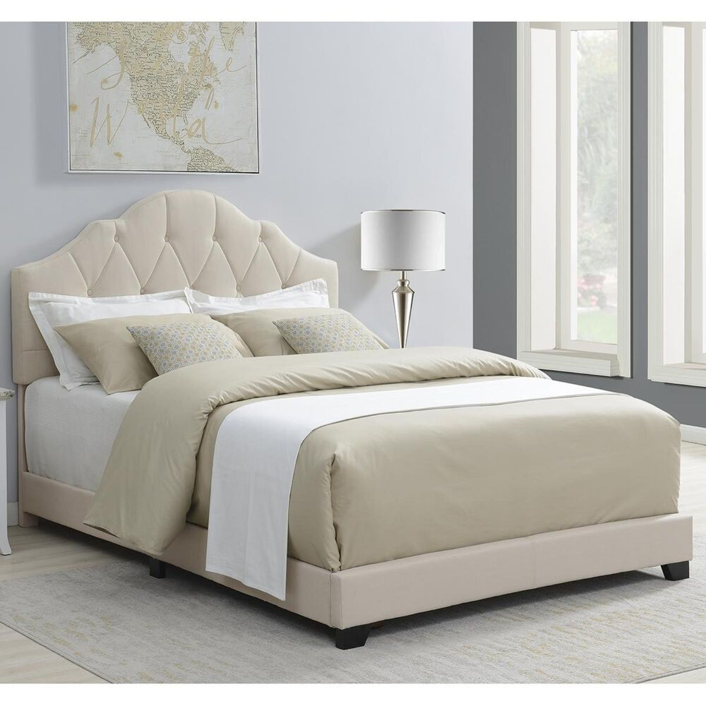 Accentric Approach Accentric Accents Benton King One Box Bed in White, , large