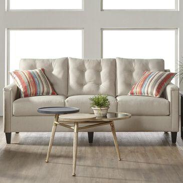 Hughes Furniture Stationary Sofa in Jitterbug Khaki, , large