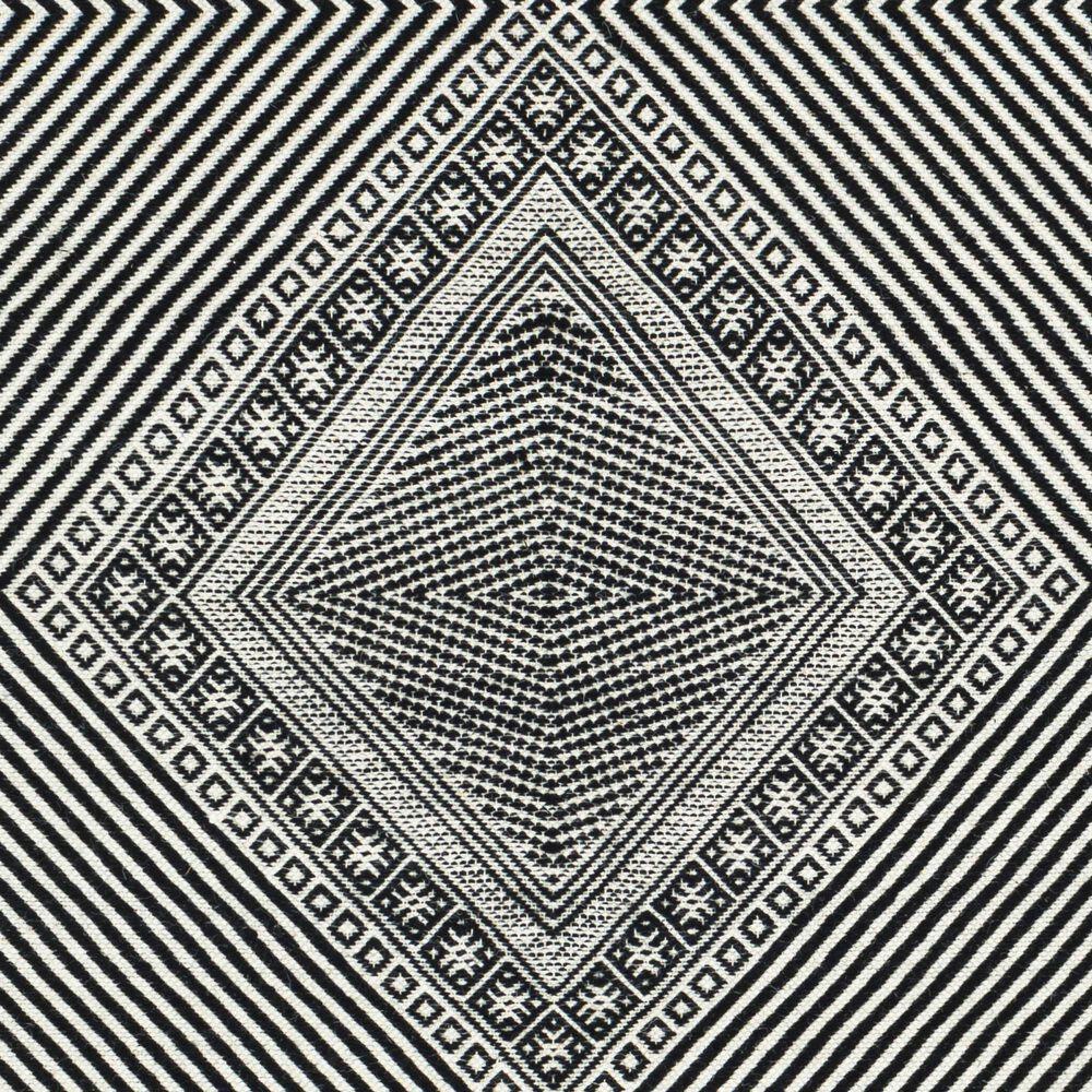 "Surya Zanafi ZNF-2302 2'6"" x 8' Black and White Area Rug, , large"