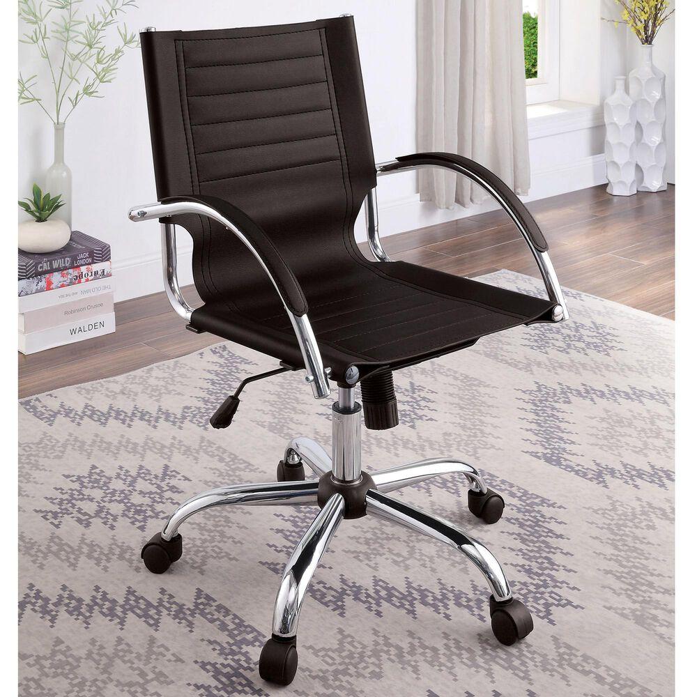 Furniture of America Schwartz Office Chair in Black, , large
