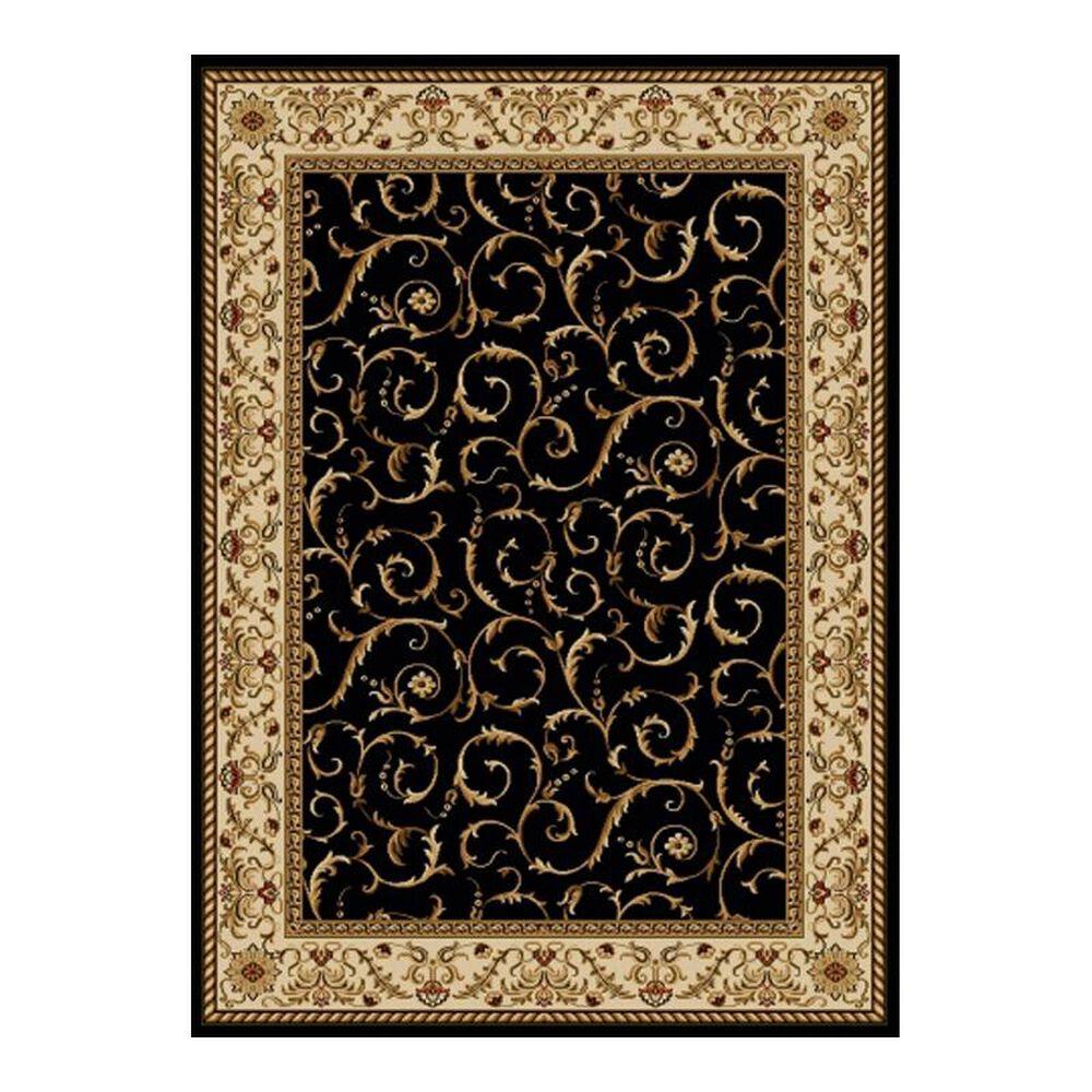 "Radici USA Bergamo 1599 7'9"" x 11' Black Area Rug, , large"