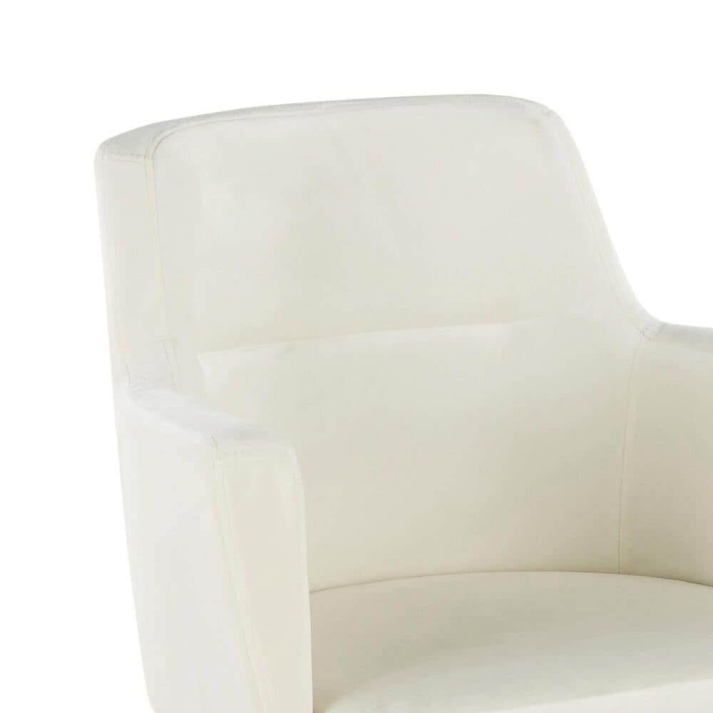 Lumisource Andrew Dining Chair in Cream/Gold (Set of 2), , large