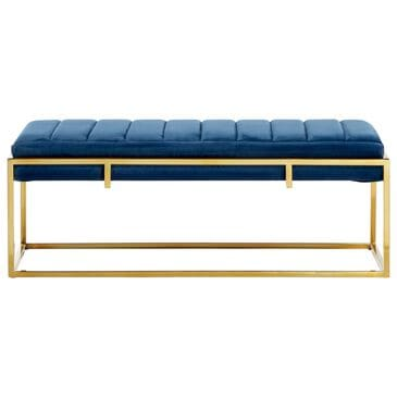 """Venus Williams Collection 48"""" x 18"""" Contemporary Velvet Bench in Multi Colored, , large"""