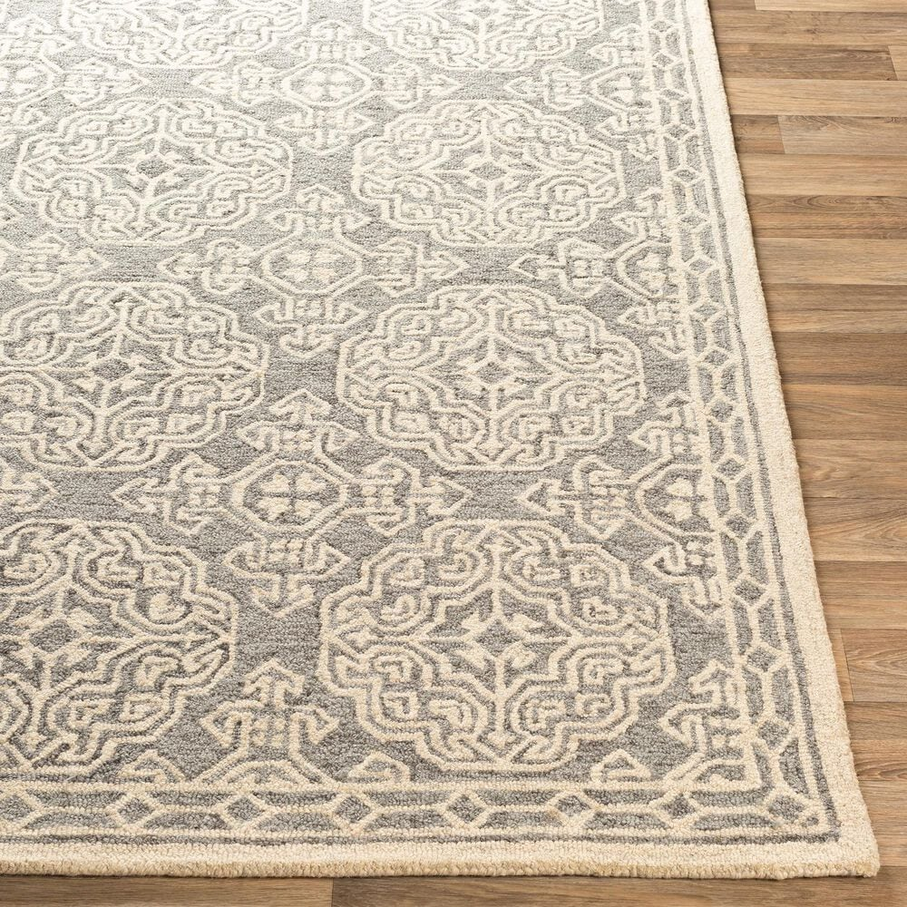 """Surya Granada GND-2304 2'6"""" x 8' Medium Gray, Beige and Charcoal Scatter Rug, , large"""