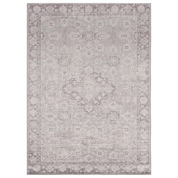 Linon Rugs Emerald EM13 5' x 7' Ivory and Thistle Area Rug, , large