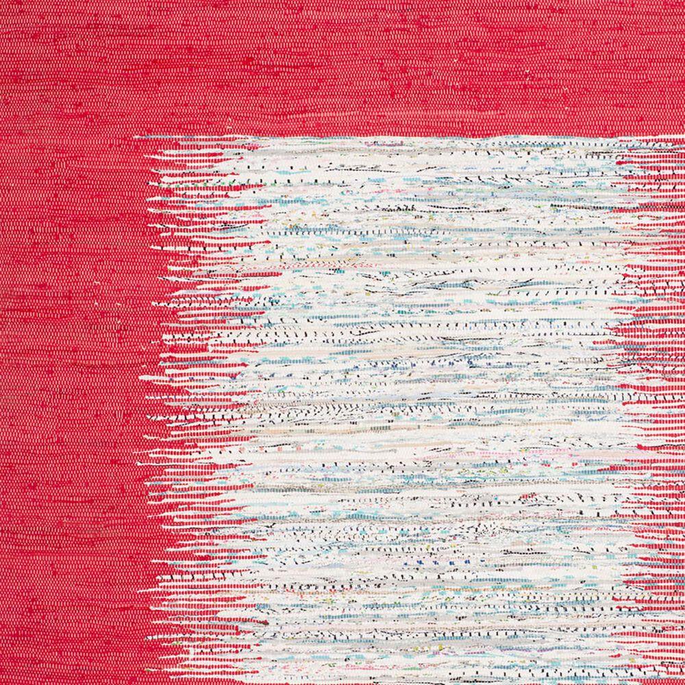 Safavieh Montauk MTK711B 6' Round Ivory and Red Area Rug, , large