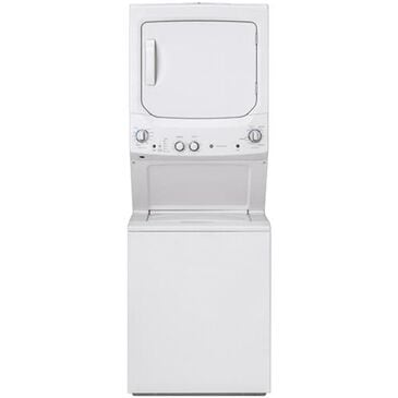 GE Appliances Unitized Spacemaker 3.8 DOE Cu. Ft. Washer and 5.9 Cu. Ft. Electric Dryer in White , , large