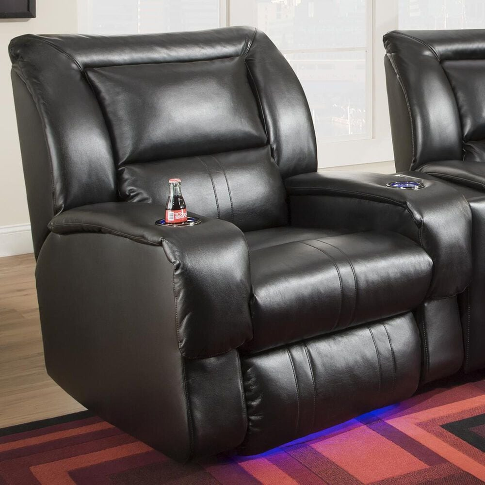 Southern Motion Roxie Power Recliner with Mood Lite in Mystro Black, , large