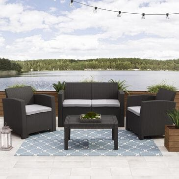CorLiving Adelaide 4-Piece Conversation Set in Light Gray, , large