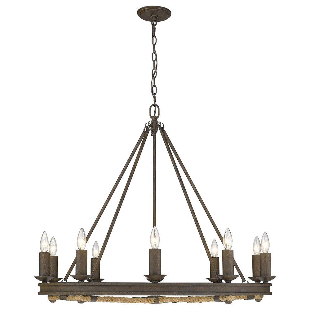 Golden Lighting Stokes 10-Light Chandelier in Dark Rust, , large