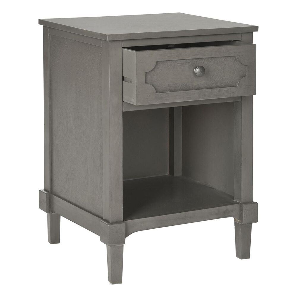 Safavieh Rosaleen Storage Side Table in Grey, , large
