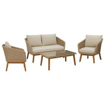 Signature Design by Ashley Crystal Cave 4-Piece Conversation Set with Beige in Acacia, , large