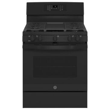 """GE Appliances 30"""" Freestanding Gas Convection Range with No Preheat Air Fry in Black, , large"""