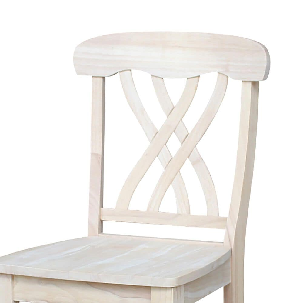 """International Concepts Lattice 24"""" Counter Stool in Unfinished, , large"""