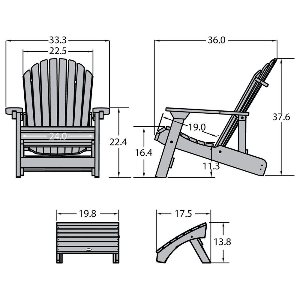 Highwood USA Hamilton Adirondack Chair & Ottoman in Federal Blue, , large