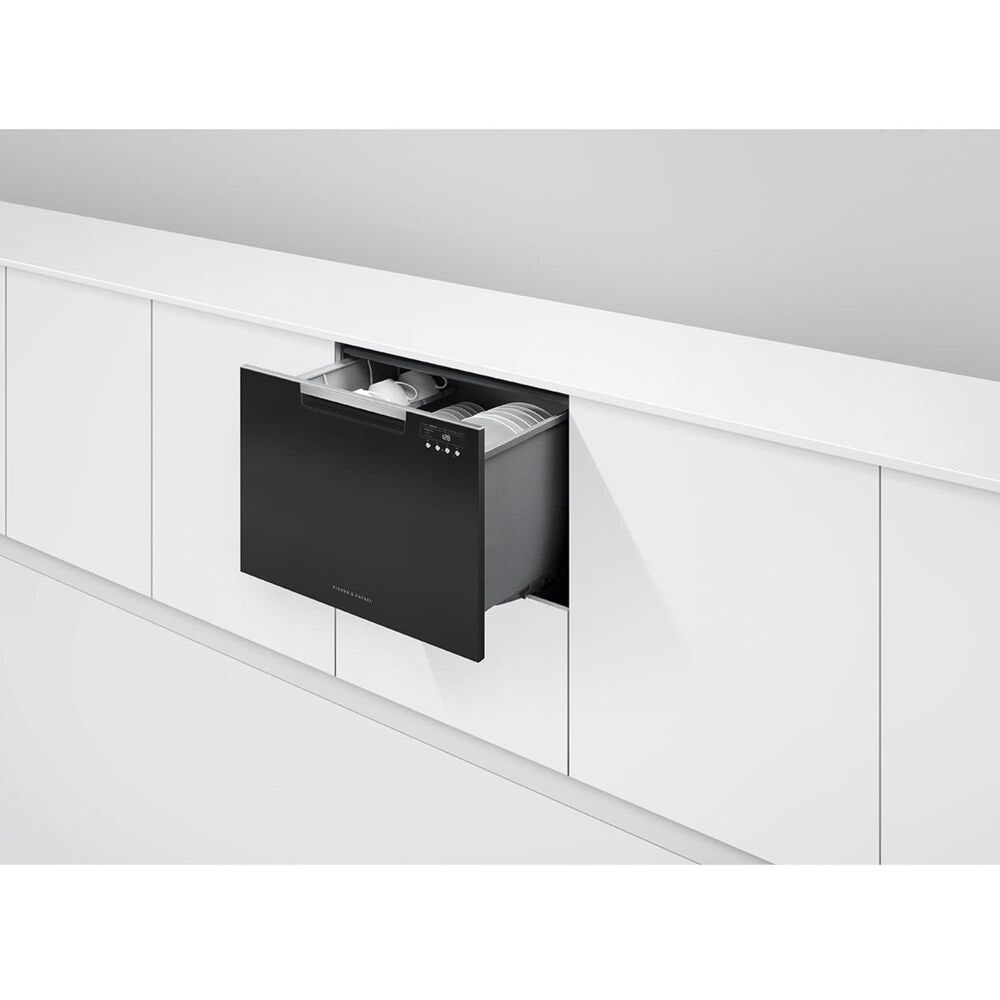 """Fisher and Paykel 24"""" Built-In Single Drawer Dishwasher in Black, , large"""