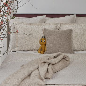 Ann Gish Faux Flax Queen Coverlet Set in Pumice, , large