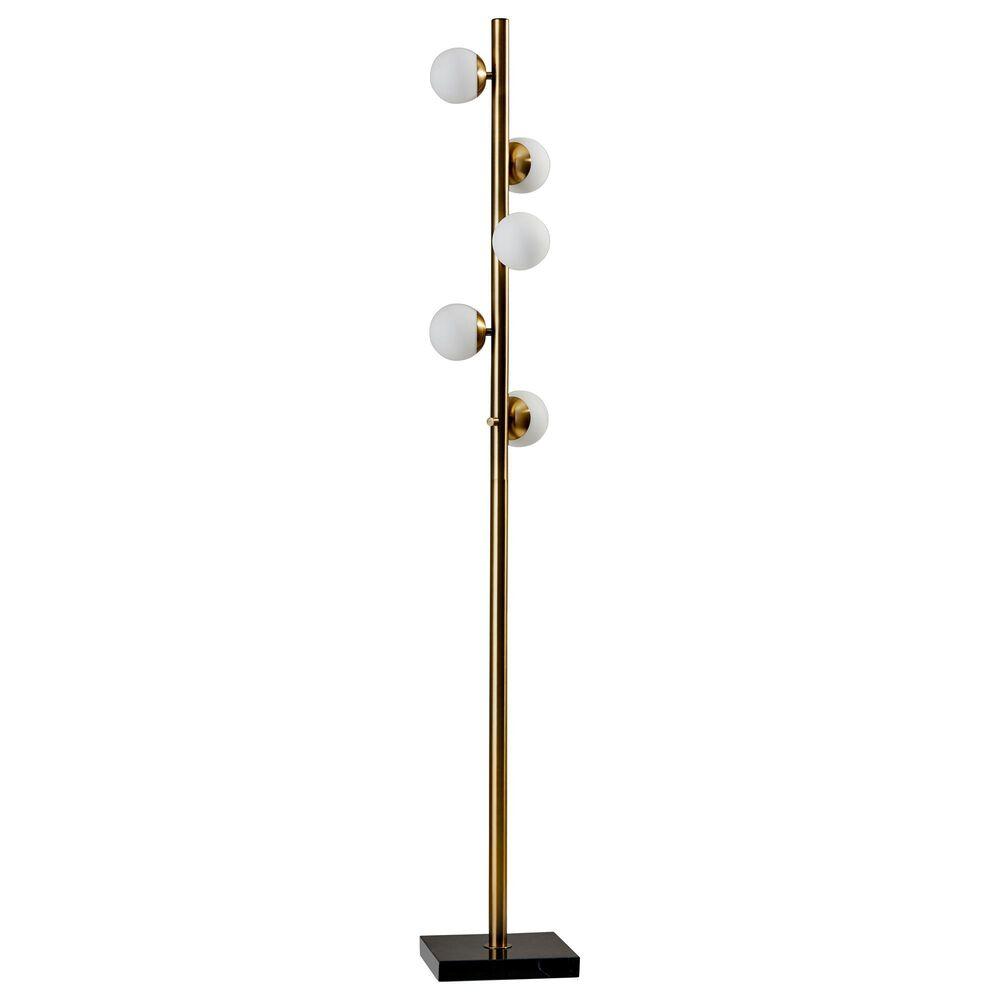 Adesso Doppler LED Tree Lamp in Antique Brass, , large