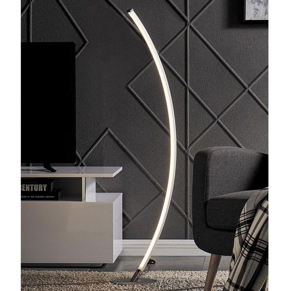 Lite Source Monita Floor Lamp in Silver, , large