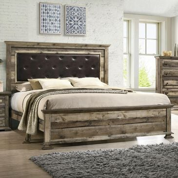 Mayberry Hill Cortez King Bed in Drift Pine, , large