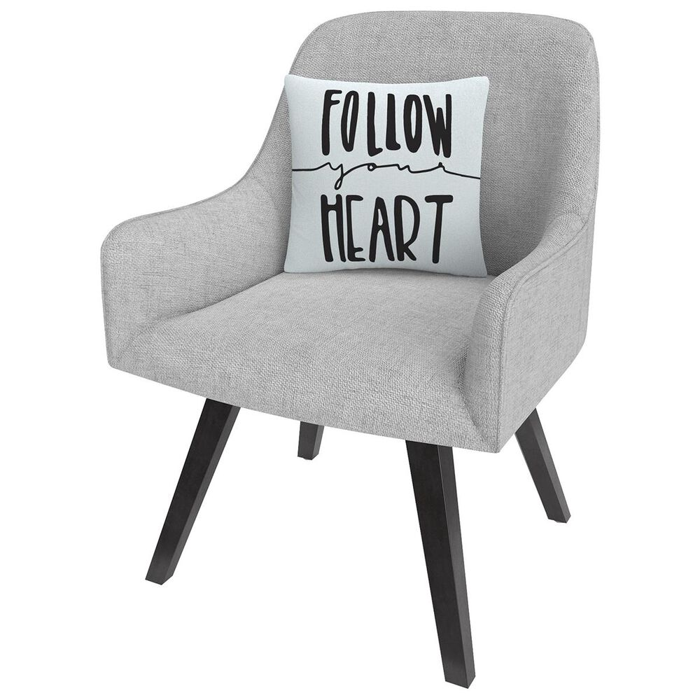 """Timberlake Typographic Follow Your Heart By ABC 16"""" Decorative Throw Pillow, , large"""