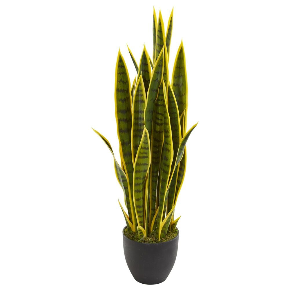 """Nearly Natural Inc 33"""" Sansevieria Artificial Plant, , large"""