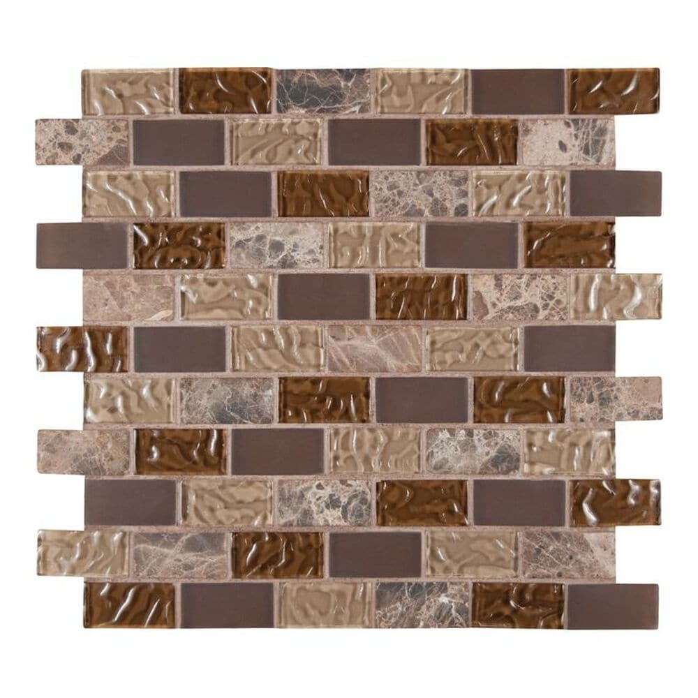 "MS International Sonoma Blend 12"" x 12"" Glass and Stone Mix Mosaic Sheet, , large"
