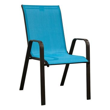 Loni Birch Color Stack Chair in Turquoise Blue, , large