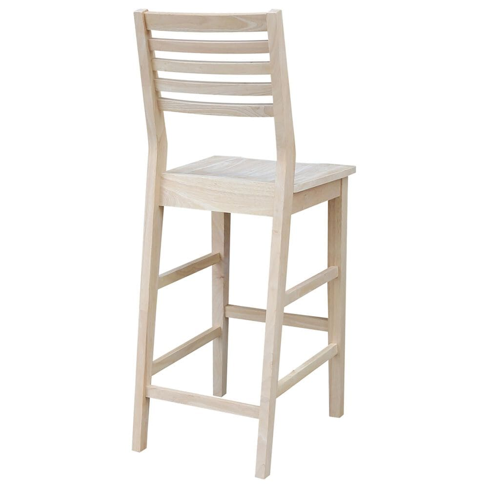 """International Concepts Aspen 30"""" Barstool in Unfinished, , large"""