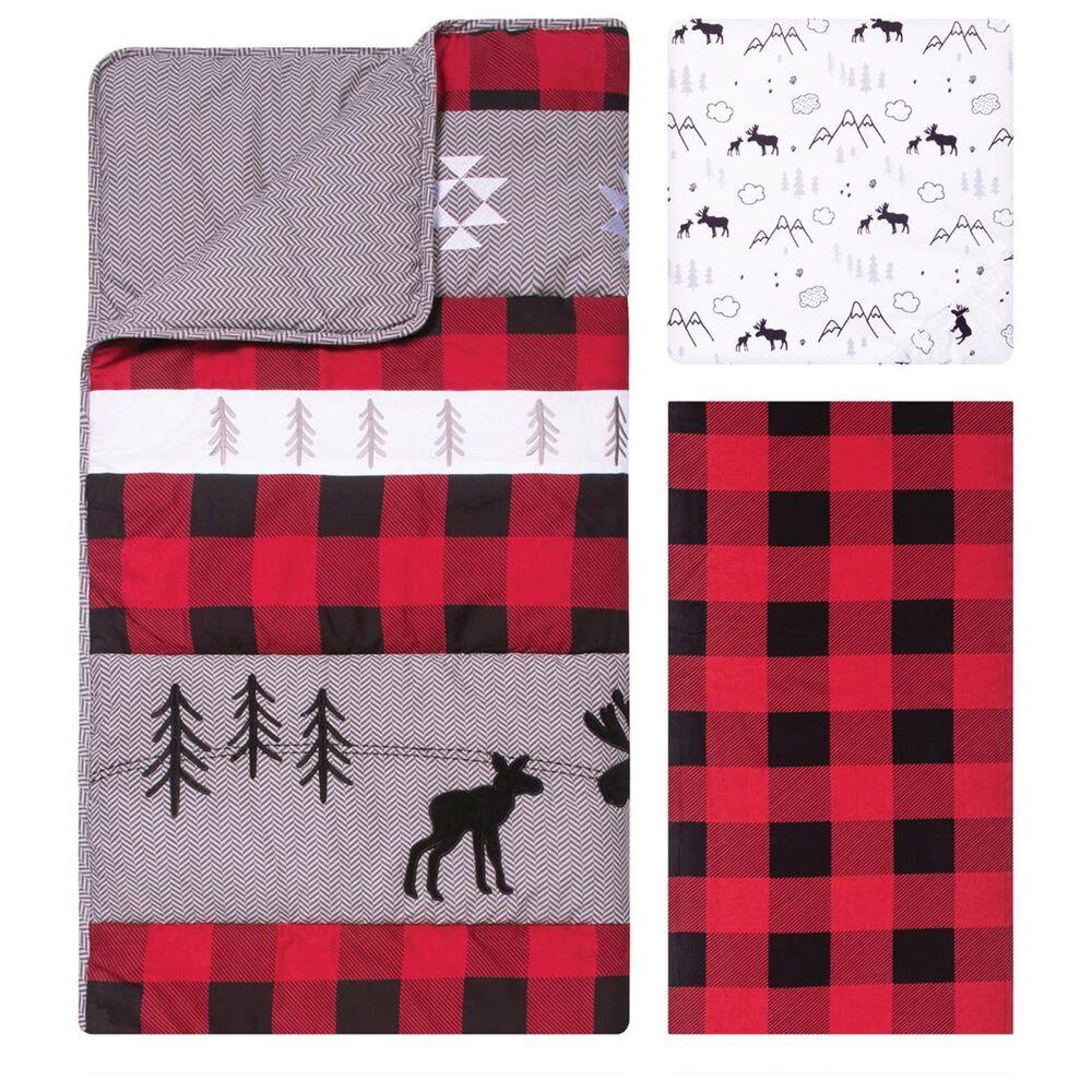 Trend Labs Lumberjack Moose 3-Piece Crib Bedding Set in Red, , large