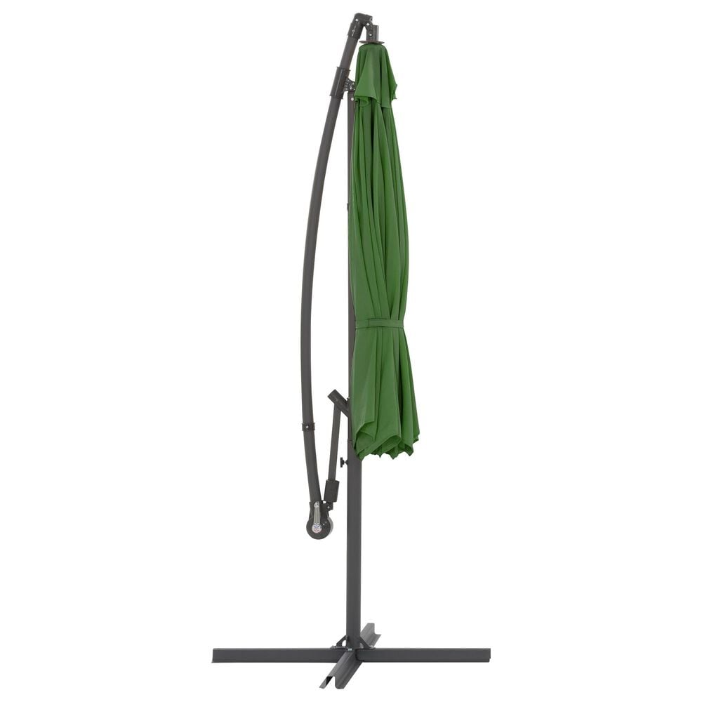 CorLiving 9.5' UV Resistant Patio Umbrella in Forest Green, , large